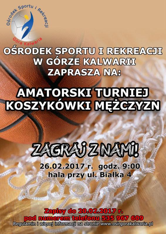 Amatorski turniej koszykówki mężczyzn
