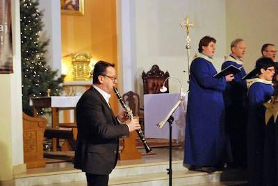 Paweł Boczkowski zagrał na klarnecie