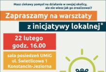 Warsztaty z inicjatywy lokalnej