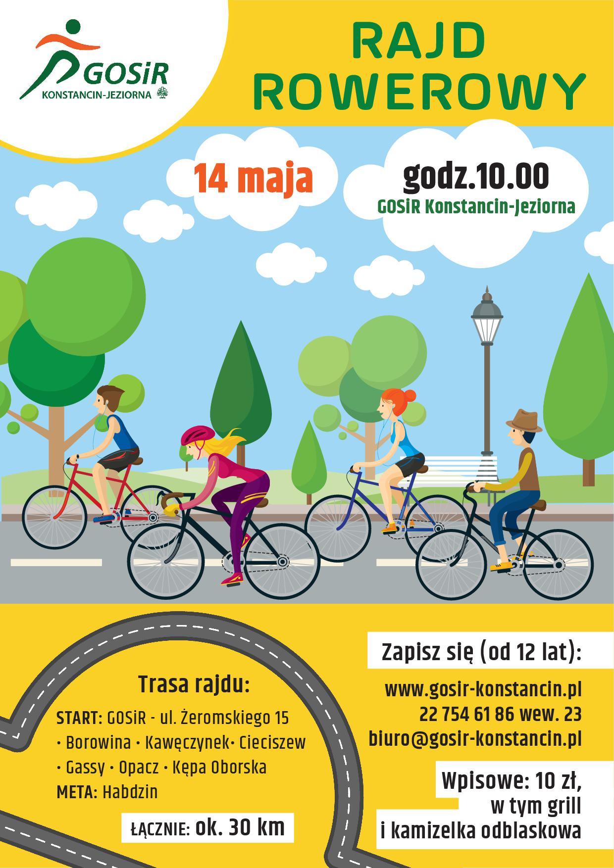 Rowerem przez gminę