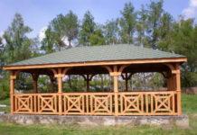 W Wólce Dworskiej wybudowano altanę