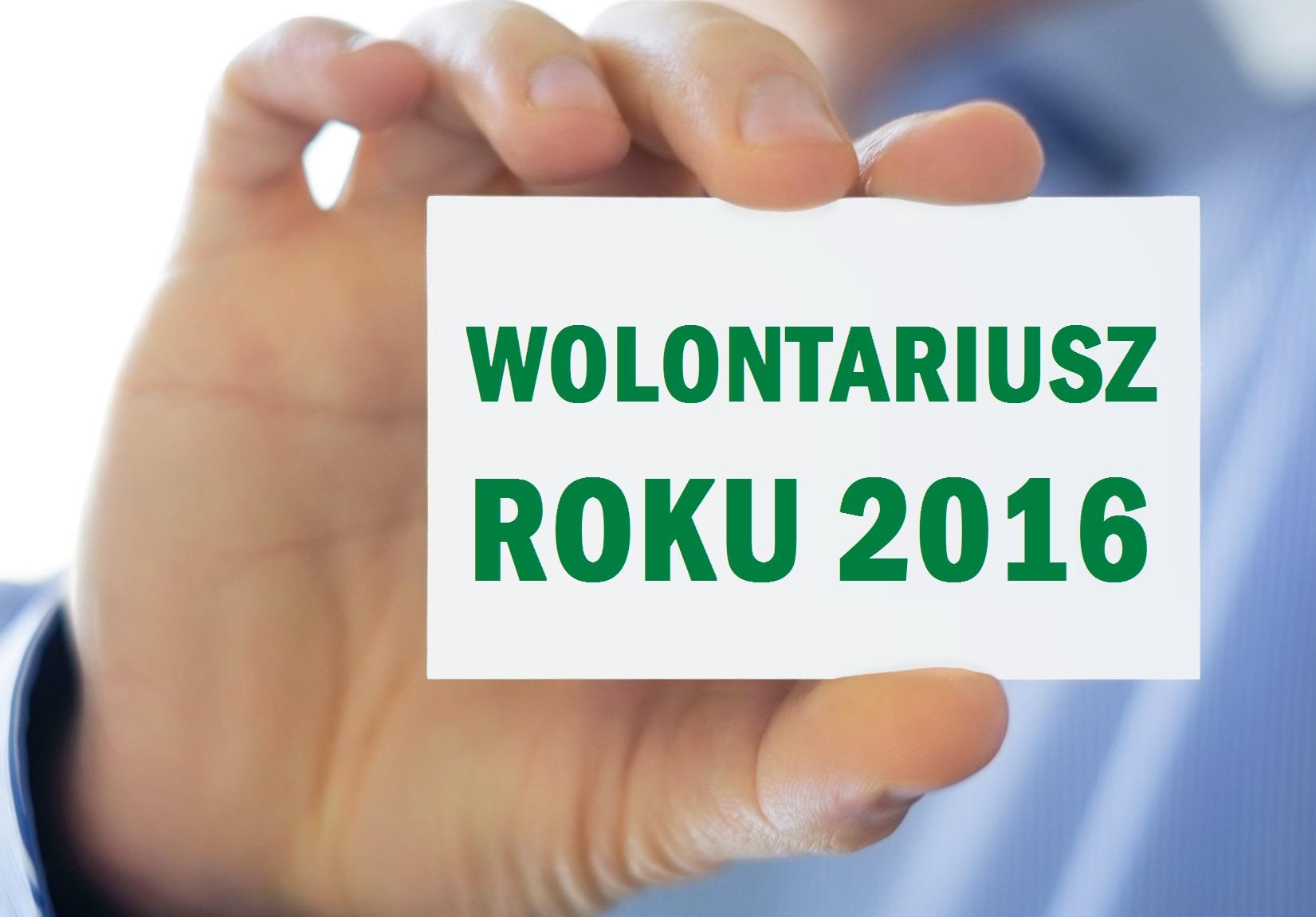 Zostań Wolontariuszem Roku 2016