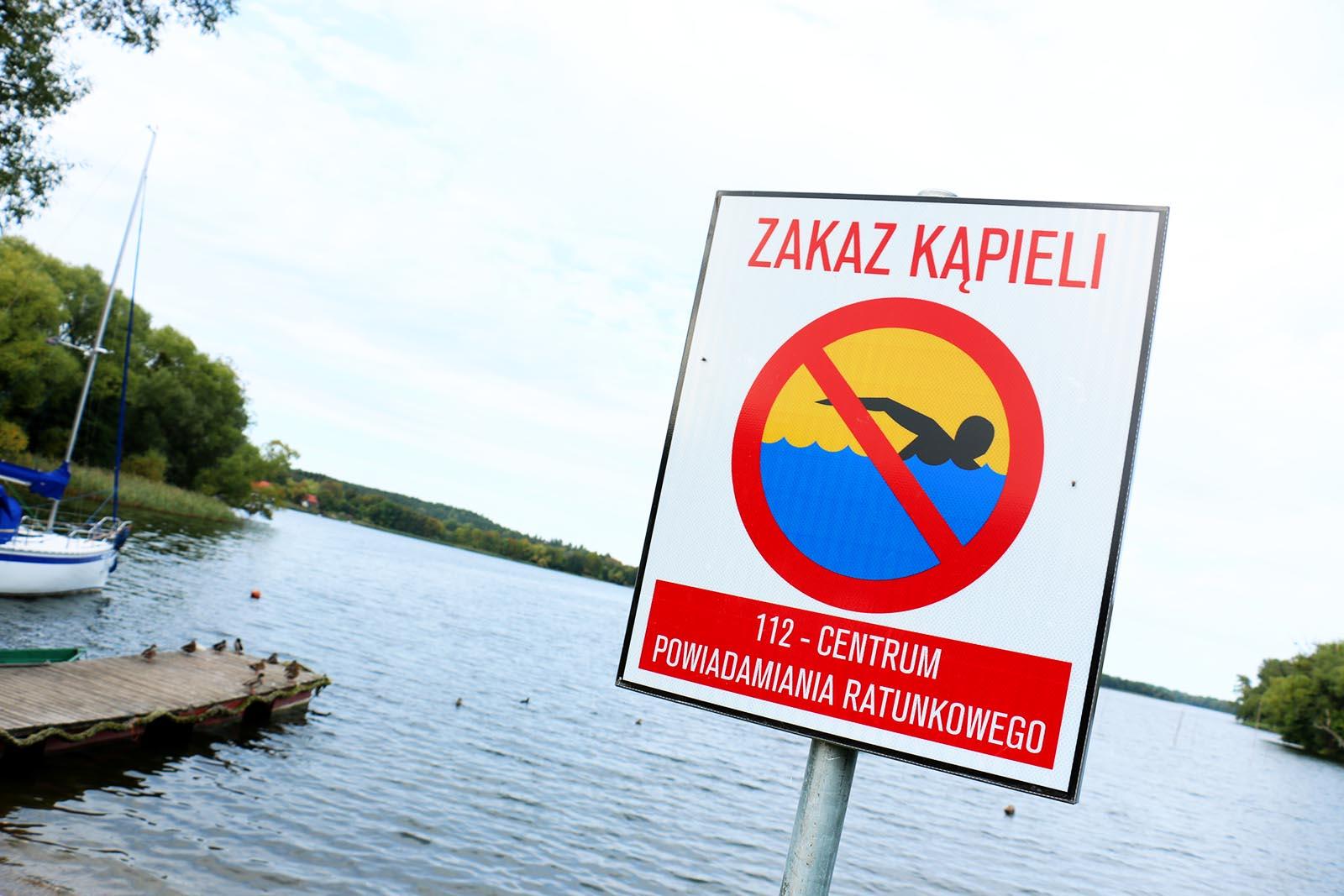 Burmistrz apeluje o przestrzeganie zakazu kąpieli