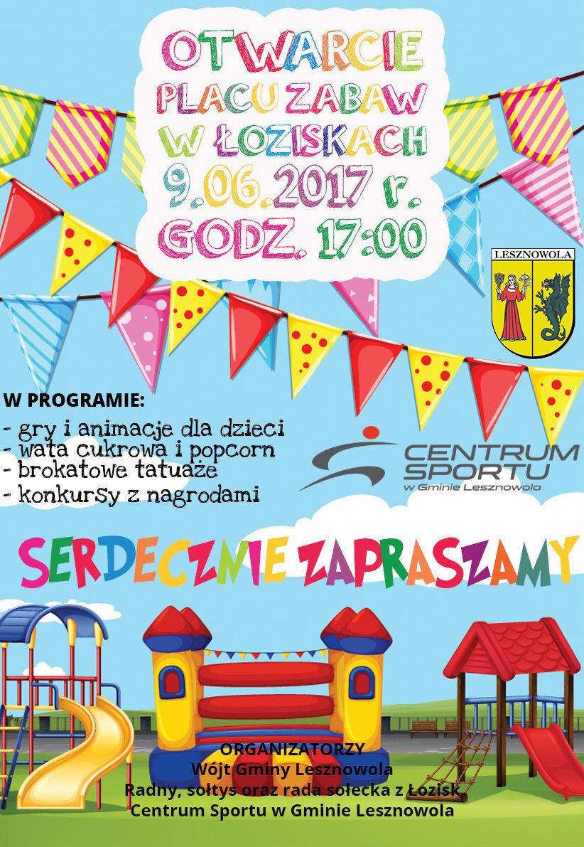 Huczne otwarcie nowego placu zabaw w Łoziskach