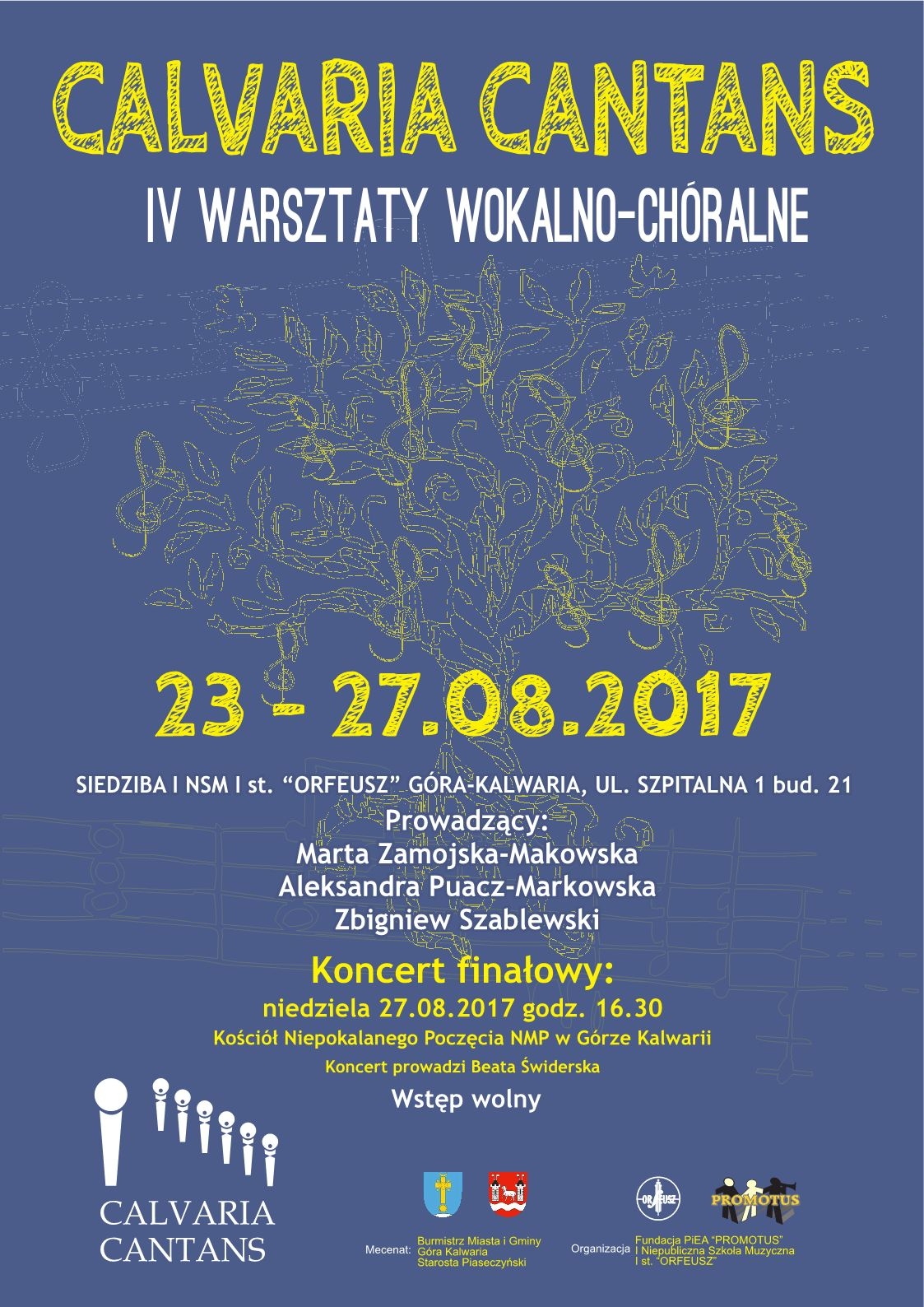 "IV Warsztaty Wokalno-Chóralne ""CALVARIA CANTANS"""