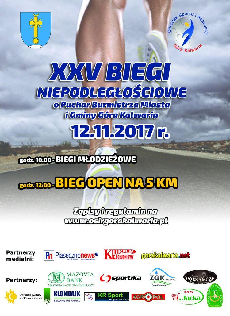 XXV Biegi Niepodległościowe o Puchar Burmistrza