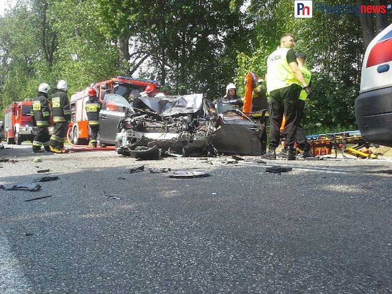 Wypadek w Żabieńcu! Droga 79 całkowicie zablokowana [AKTUALIZACJA]