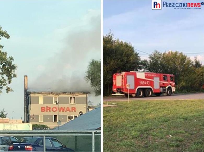 Pożar w browarze Jabłonowo!