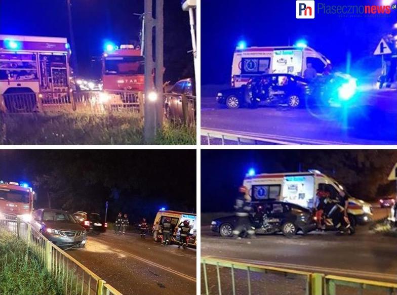 Wypadek na skrzyżowaniu w Zalesiu Dolnym
