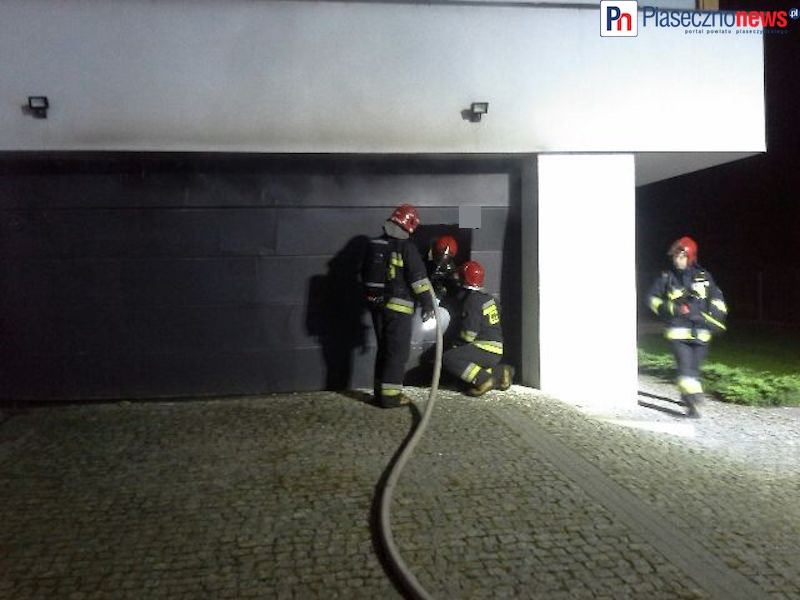 Pożar domu w Głoskowie