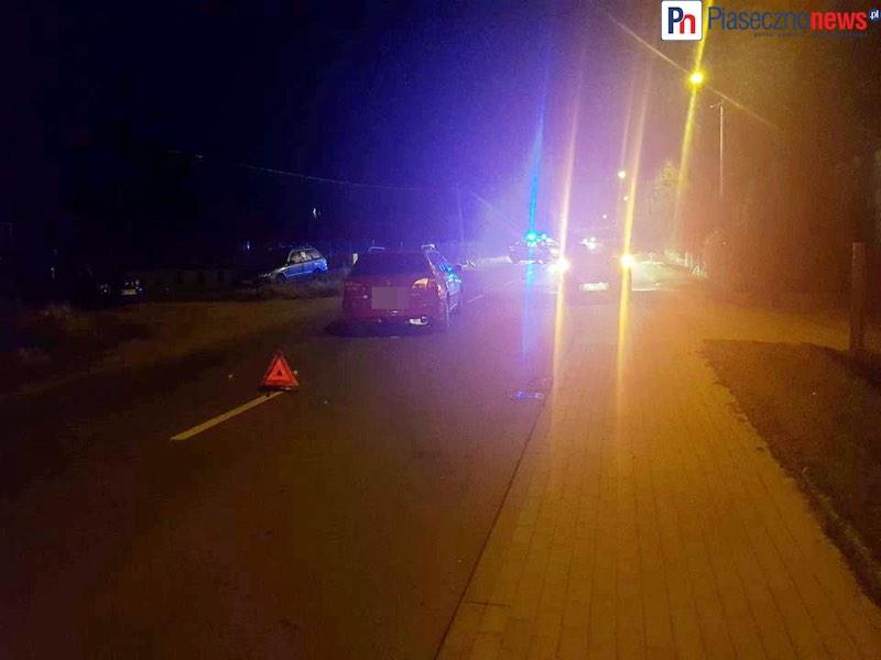 Wypadek! Droga zamknięta. Czy motocyklista był pijany?