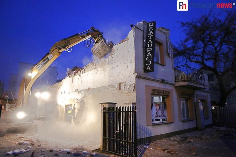 Rozpoczęto wyburzanie restauracji Puławska 4
