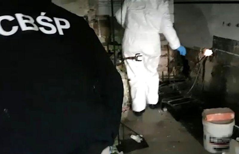 CBŚP zlikwidowało pod Konstancinem wytwórnię amfetaminy