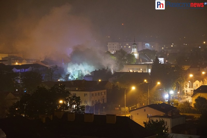 Pożar w centrum miasta! Straż pożarna w akcji