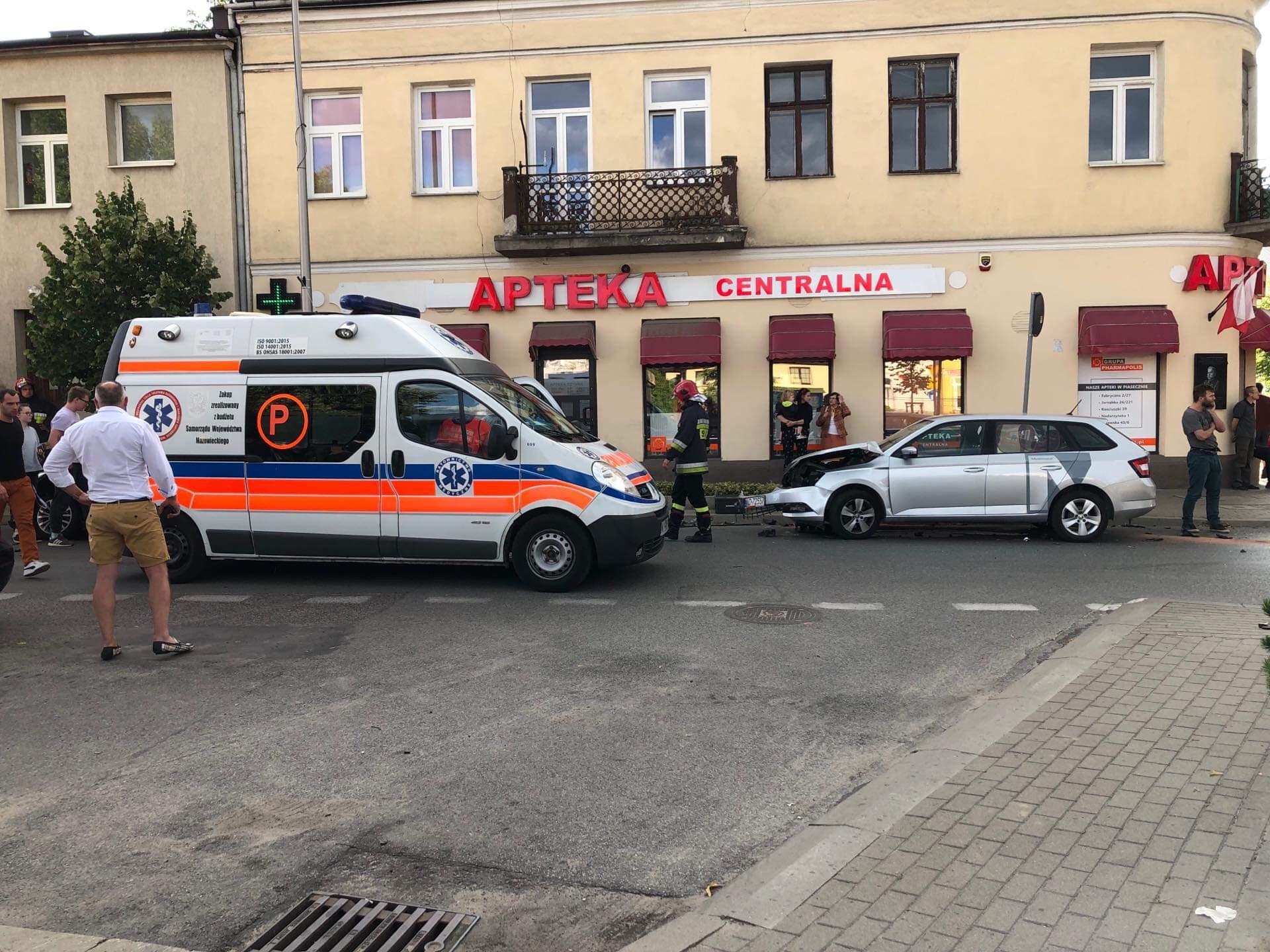 Wypadek w centrum miasta