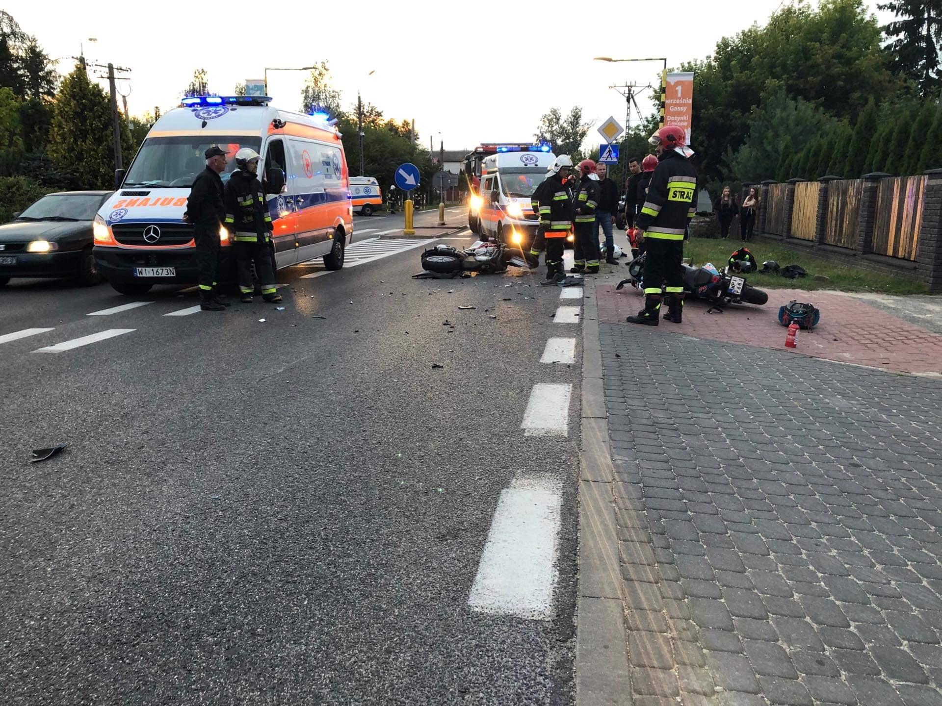 Wypadek motocyklistów [AKTUALIZACJA]