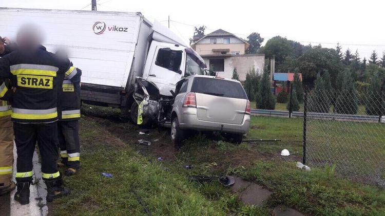 [AKTUALIZACJA] Śmiertelny wypadek w Brześcach. Droga jest już przejezdna!