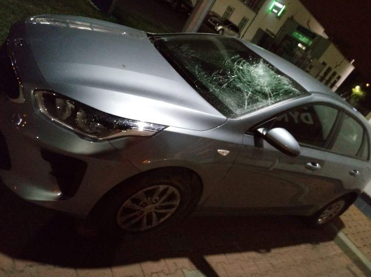 Grupa Ukraińców zaatakowała samochód jadący obwodnicą