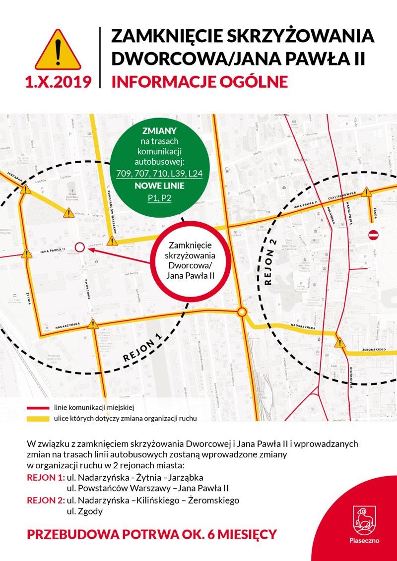 Tak będziemy jeździć po Piasecznie! Gmina prezentuje mapki z nową organizacją ruchu i nowymi liniami autobusowymi
