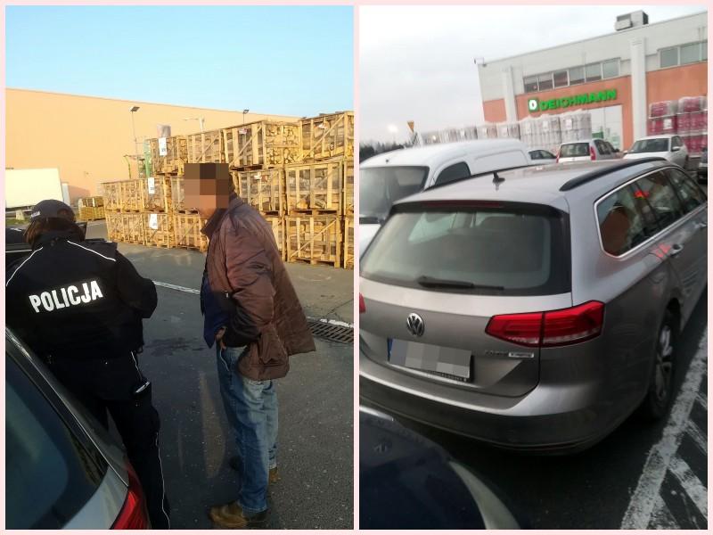 Sprzedawca z parkingu pod Leroy Merlin obezwładniony i przekazany policji