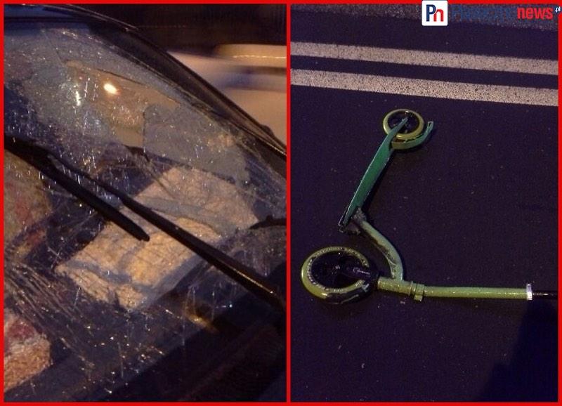 Samochód potrącił 12-latka, który wyjechał na pasy hulajnogą