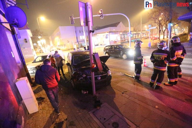 Wypadek na skrzyżowaniu Chyliczkowskiej z Warszawską