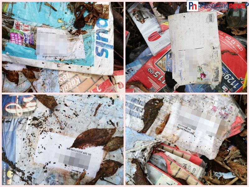 Czekacie na list? Ktoś wyrzucił stos przesyłek listowych pod wiadukt!!!
