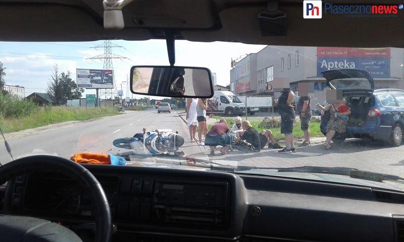 Wypadek przy Biedronce! Ucierpiał motocyklista [AKTUALIZACJA]