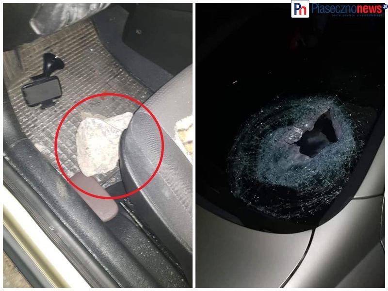 Rzucano kamieniami w przejeżdżające auta! Potłuczone szyby i ranna kobieta