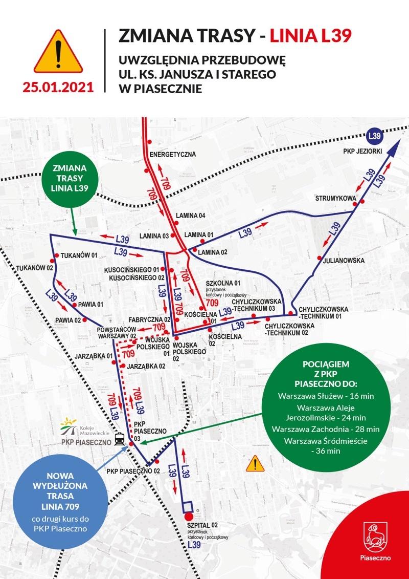 Ważne zmiany w transporcie publicznym w gminie Piaseczno