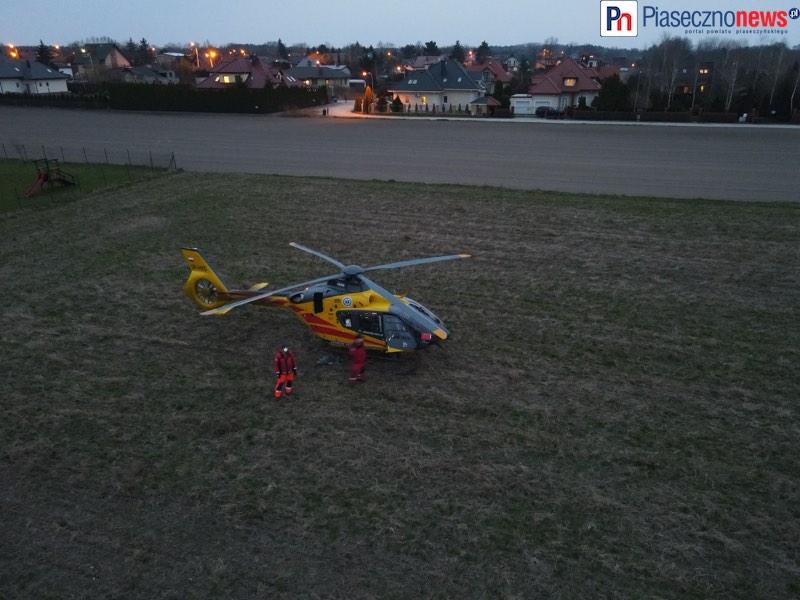 Służby ratunkowe ruszyły na pomoc! Wylądował śmigłowiec LPR