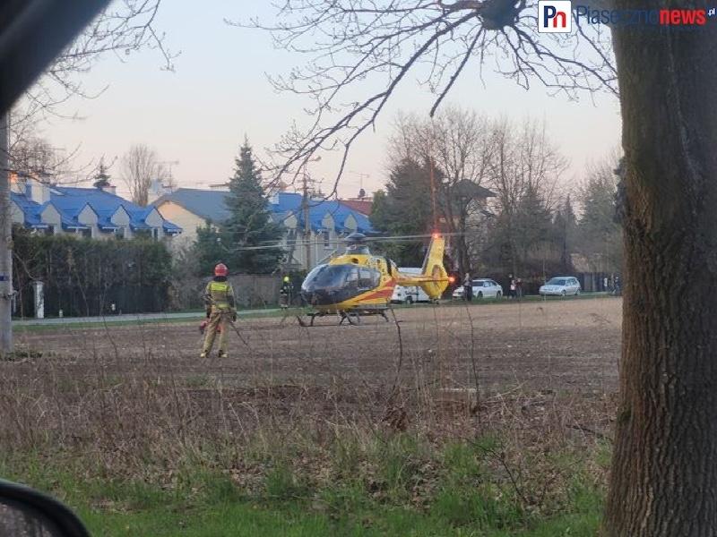 Poważny wypadek, śmigłowiec LPR w akcji