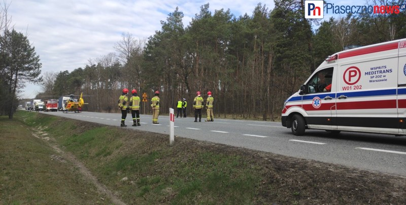Wypadek dwóch ciężarówek! Wylądował śmigłowiec LPR [AKTUALIZACJA]