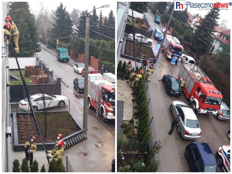 Strażacy wchodzą przez okno do mieszkania [AKTUALIZACJA]