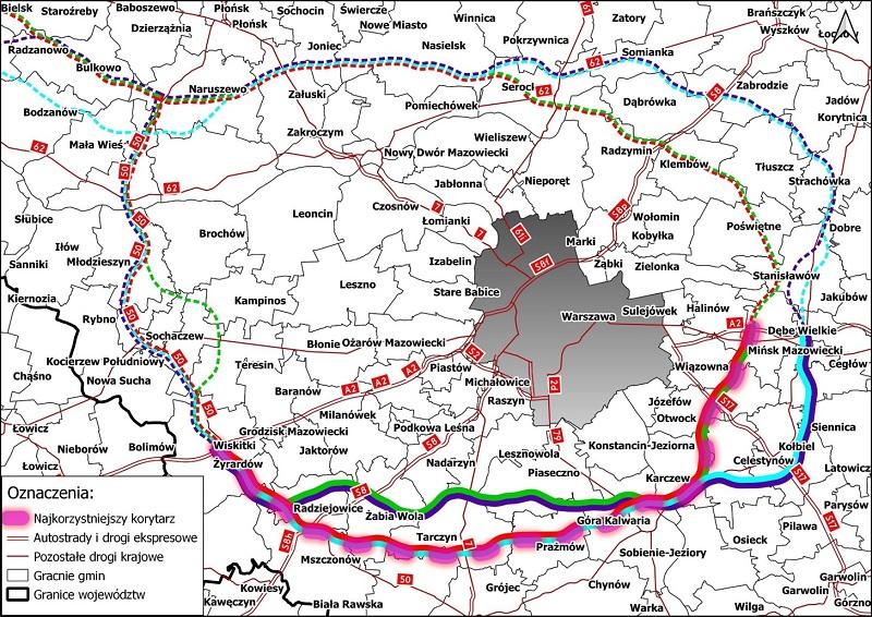 Uwaga, kończy się termin zgłaszania uwag do budowy autostradowej Obwodnicy Aglomeracji Warszawy